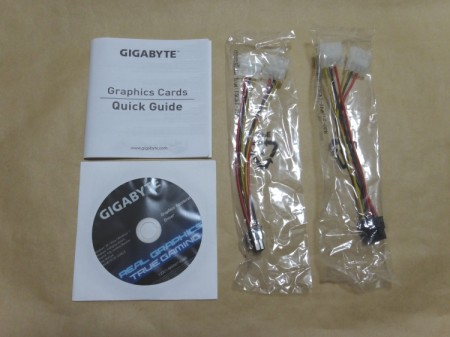 GIGABYTE GV-N78TGHZ-3GDの付属品