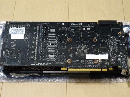 EVGA GTX 780 Ti Classified Back Plate Cooling取付け前