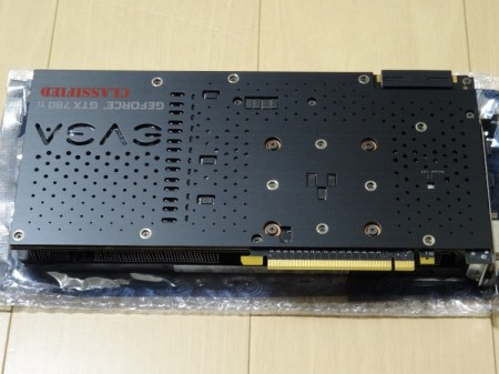 EVGA GTX 780 Ti Classified Back Plate Cooling取付け後