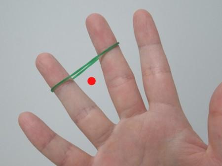 片手で輪ゴムを二重にする方法01