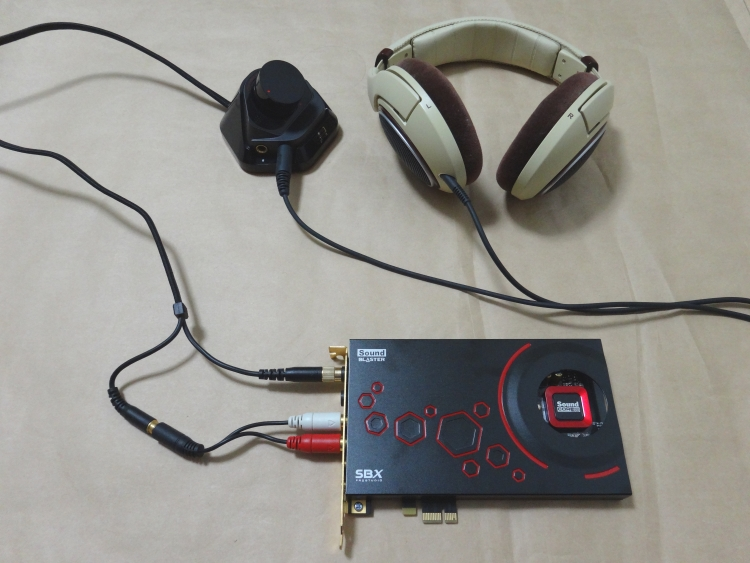 Sound Blaster ZxR+ヘッドホンでステレオダイレクトモードを使う為の接続方法