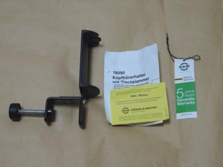 K&M 16090 ヘッドホンホルダー製品内容