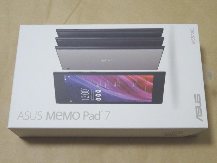ASUS MeMO Pad 7 ME572CLのパッケージ