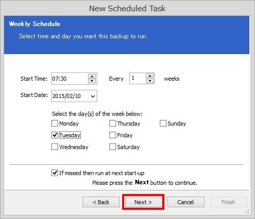 Macrium Reflect Free Editionでスケジュールバックアップを設定する方法(手順)6