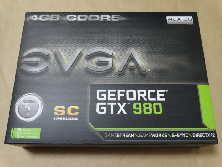EVGA GeForce GTX 980 Superclocked ACX 2.0のパッケージ
