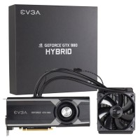 EVGA GeForce GTX 980 Hybridの本体とパッケージ