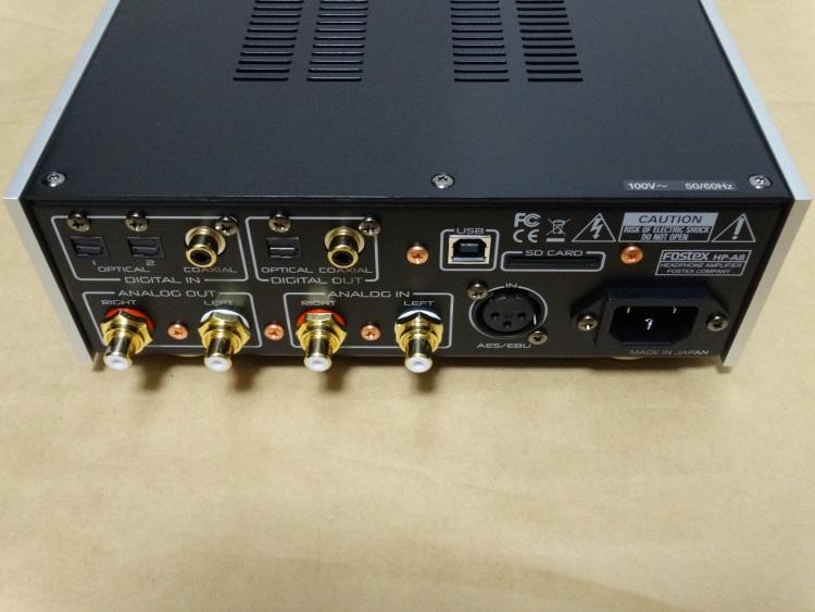FOSTEX HP-A8の背面