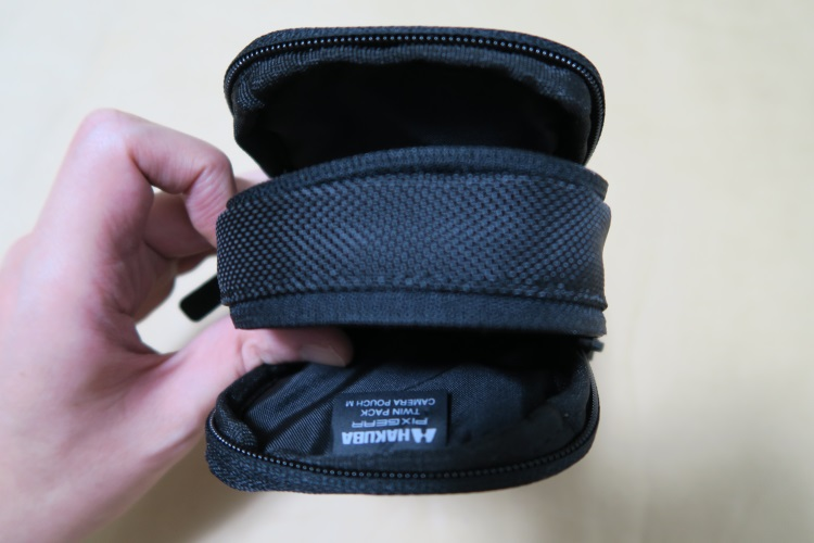 HAKUBA SPG-TPCPM-BKのメインポケット二つ
