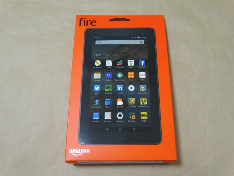 Fire タブレット 8GB、ブラックのパッケージ