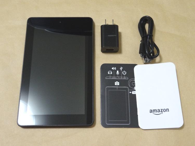 Fire タブレット 8GB、ブラックの製品内容