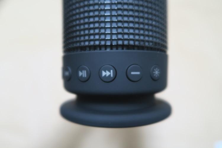 SoundSOUL LED bluetooth スピーカー本体下部表側のボタン類2