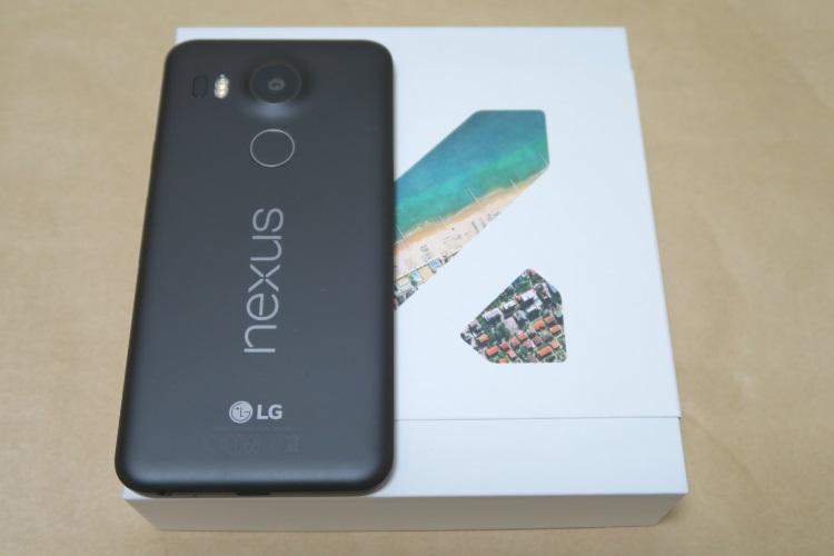 Google Nexus 5X(LG-H791)本体裏面の様子