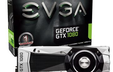 EVGA GeForce GTX 1080 FOUNDERS EDITION本体とパッケージ