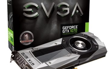 EVGA GeForce GTX 1070 FOUNDERS EDITIONの本体とパッケージ