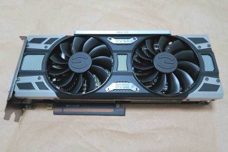 EVGA GeForce GTX 1080 SC GAMING ACX 3.0(本体表側の様子)
