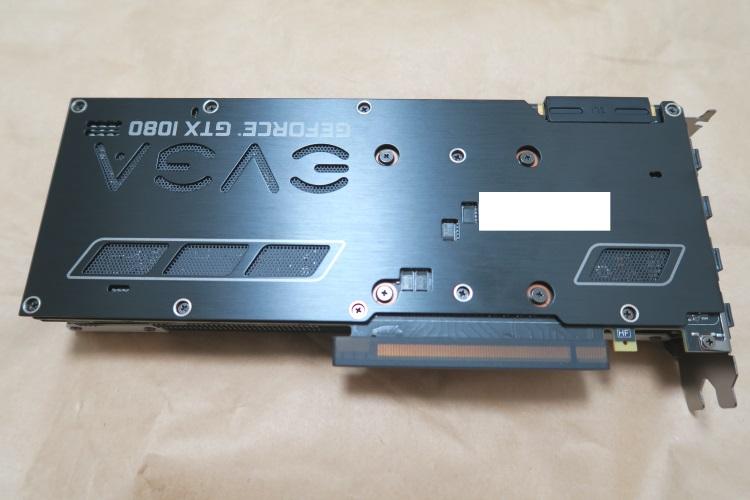EVGA GeForce GTX 1080 SC GAMING ACX 3.0(本体裏側の様子)