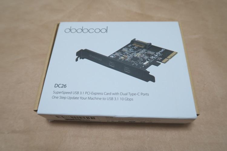 USB3.1&USB Type-C増設カード dodocool DC26のパッケージ