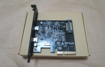 USB3.1&USB Type-C増設カード dodocool DC26本体表側の様子
