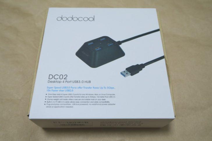 USB3.0対応 4ポートハブ dodocool DC02のパッケージ