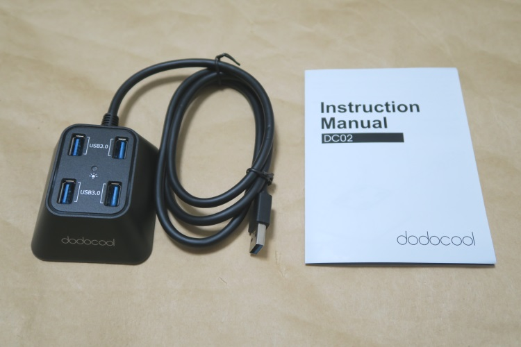 USB3.0対応 4ポートハブ dodocool DC02の製品内容