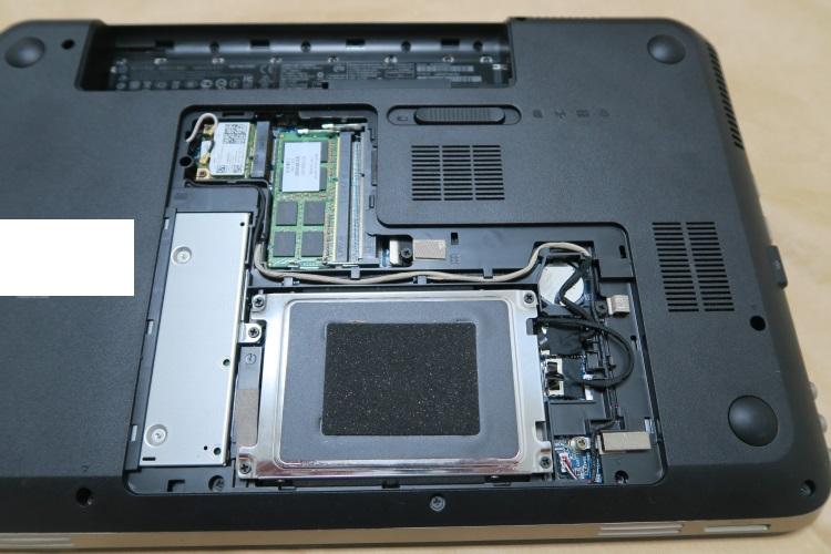 HP dv6-6118TXをSSD化する手順(HDDを交換する方法) 03