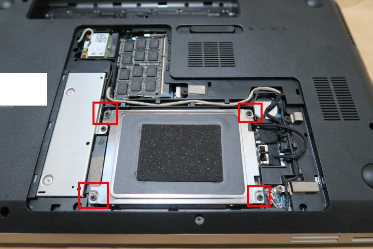 HP dv6-6118TXをSSD化する手順(HDDを交換する方法) 12