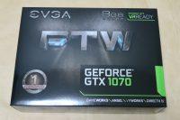 EVGA GeForce GTX 1070 FTW GAMING ACX 3.0のパッケージ