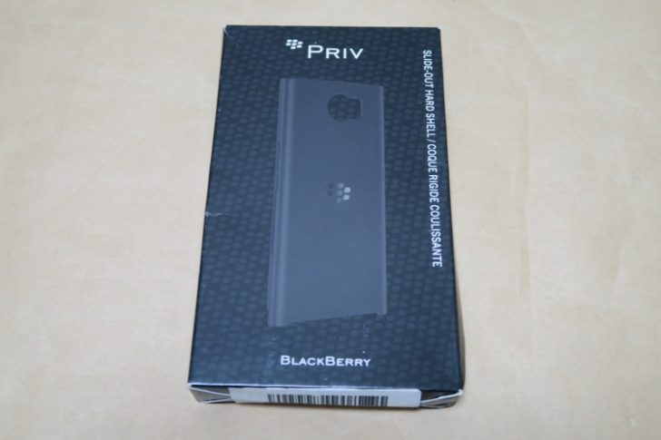 BlackBerry Priv純正ケース Slide-Out Hard Shellのパッケージ