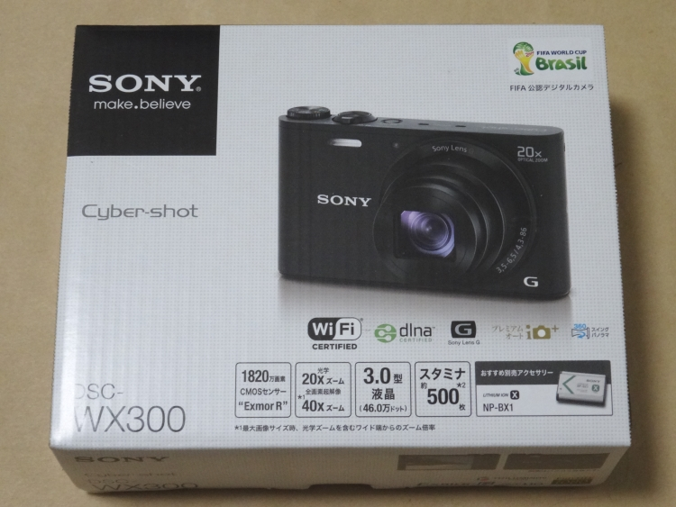 SONY DSC-WX300のパッケージ