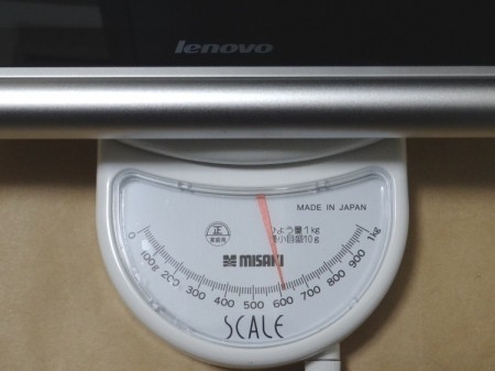 YOGA TABLET 10の重量