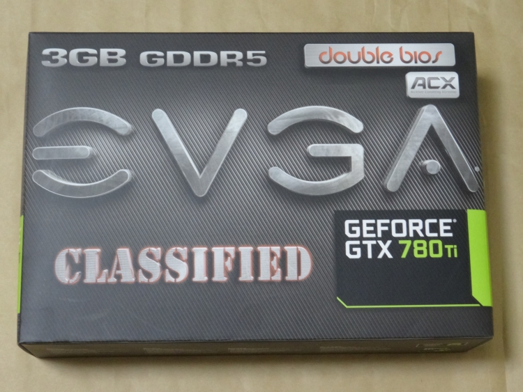 EVGA GeForce GTX 780 Ti Dual Classified w/ EVGA ACX Coolerのパッケージ