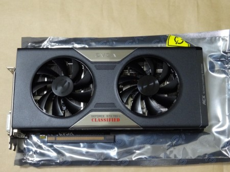 EVGA GeForce GTX 780 Ti Dual Classified w/ EVGA ACX Coolerの表側