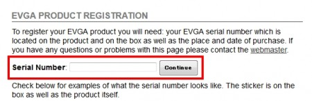 EVGA製品の登録方法01