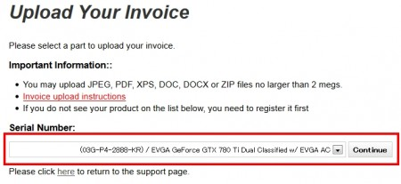 EVGA製品の登録方法04