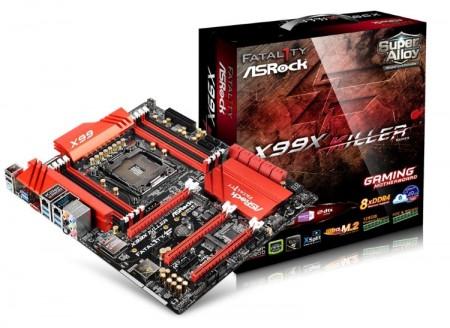 ASRock X99X Killer本体とパッケージ