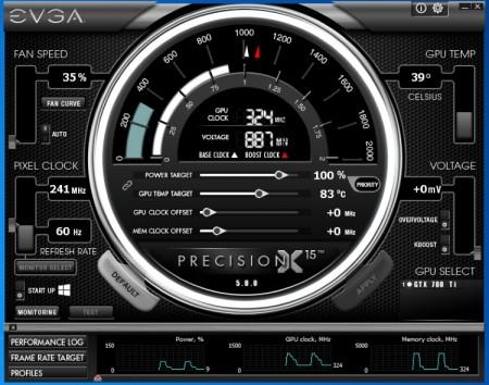 EVGA PrecisionX 15のスクリーンショット