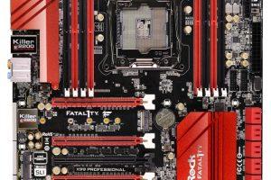 ASRock Fatal1ty X99 Professional本体俯瞰