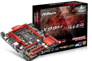 ASRock X99M Killer本体とパッケージ