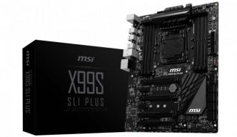 MSI X99 SLI Plus本体とパッケージ