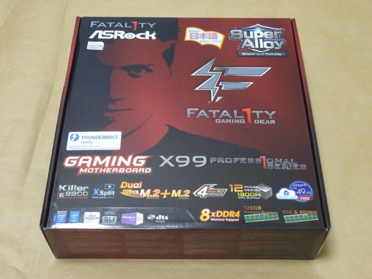 ASRock Fatal1ty X99 Professionalのパッケージ