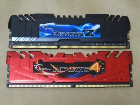 RipjawsZとRipjaws4シリーズの比較