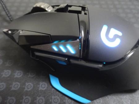 Logicool G502の発光部分