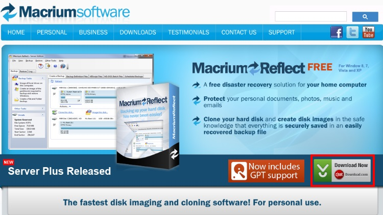 Macrium Reflect Free Editionのインストール手順1