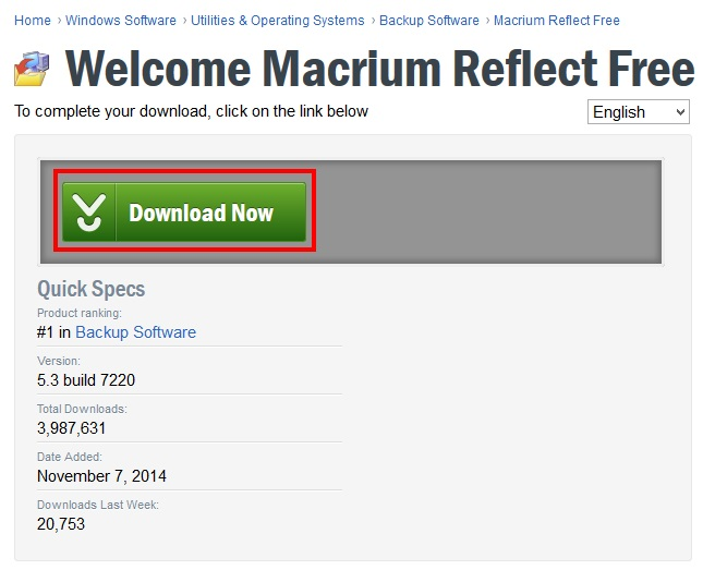 Macrium Reflect Free Editionのインストール手順2