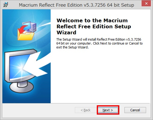 Macrium Reflect Free Editionのインストール手順6