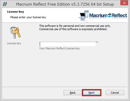 Macrium Reflect Free Editionのインストール手順8
