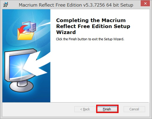 Macrium Reflect Free Editionのインストール手順12