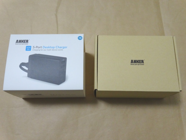 Anker 40W 5ポート USB急速充電器 ACアダプタ PowerIQ搭載のパッケージの開け方