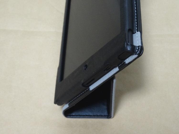 【TOYU】専用保護ケース For ASUS Memo Pad 7 ME572C/ME572CL本体を立てた様子
