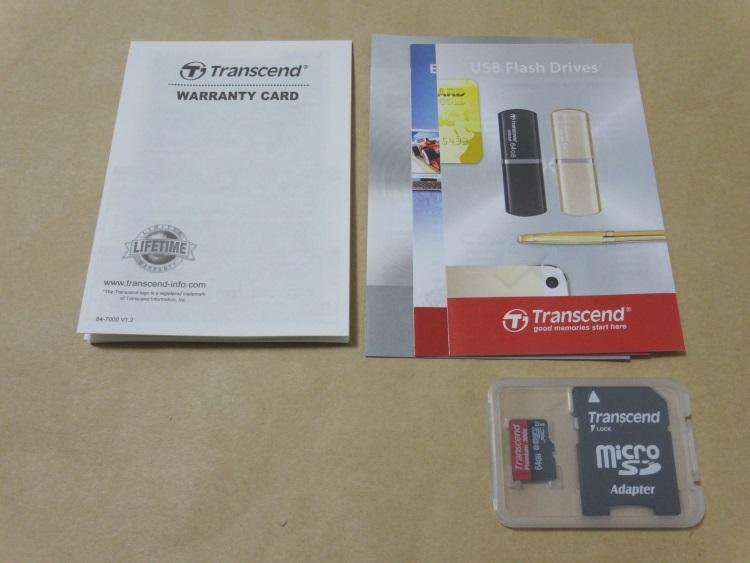 Transcend TS64GUSDU1Eの製品内容